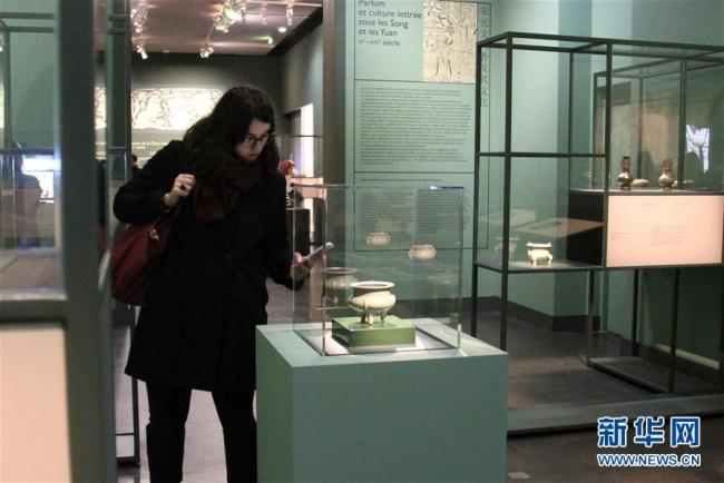 From fragrance burners to incense tables, the pieces allow visitors to explore the history of perfume in China and its most brilliant creations.[Photo: Xinhua]