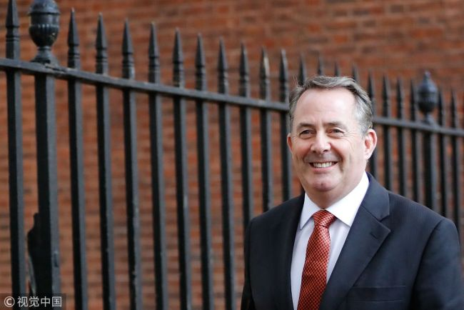 Britain's International Trade Secretary Liam Fox leaves 10 Downing Street in London on October 9, 2018 after attending the weekly meeting of the cabinet. [File Photo: VCG]
