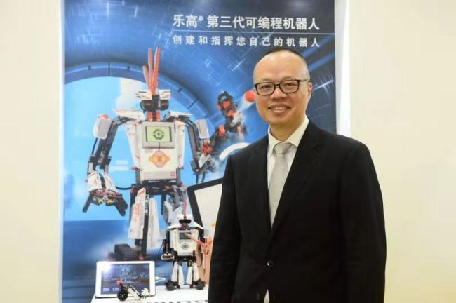 A file photo of Paul Huang, Senior Vice president of the LEGO Group. [Photo provided to China Plus]