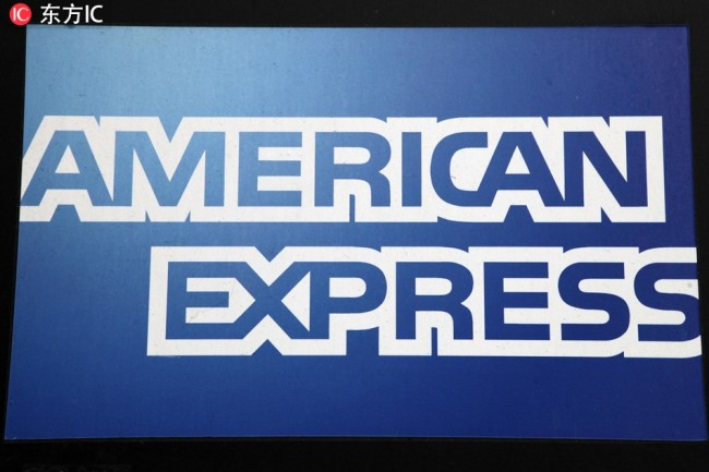 Logo of the American Express Company. [Photo: IC]