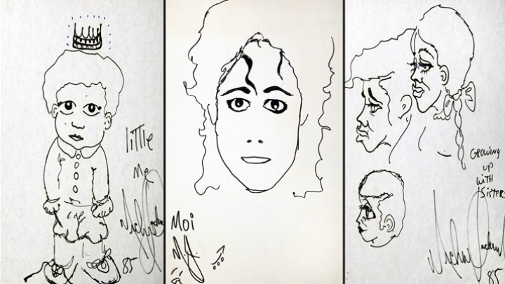 Michael Jackson's never-before-seen drawings made public