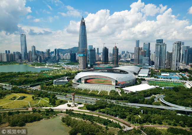 A bird view of Shenzhen special economic zone, China's first and one of the most successful Special Economic Zones. [File Photo:VCG]