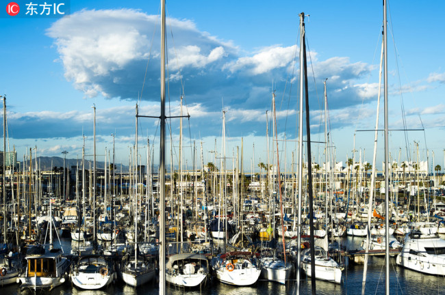 A file photo shows the Port of Barcelona. [Photo:IC]