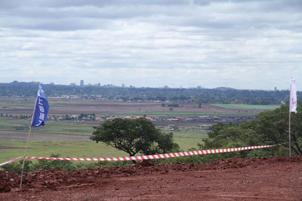 A glimpse of downtown Harare from the site of Zimbabwe's new parliament building. [Photo: China Plus]