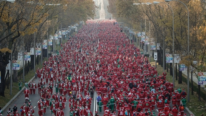 Santa Claus run in Spain