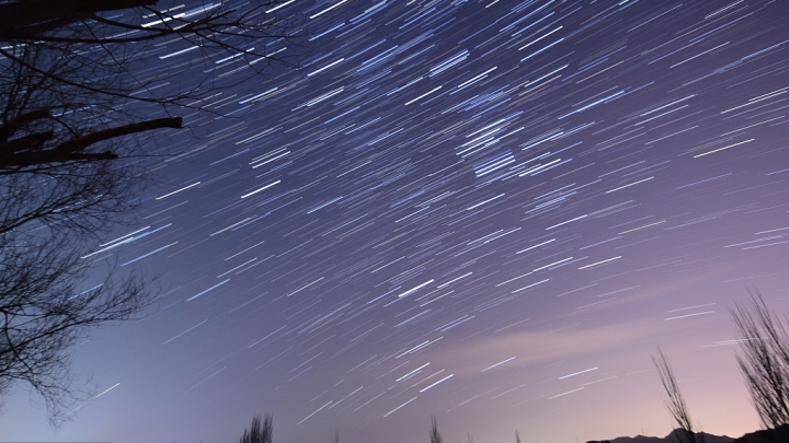 Gemini meteor shower seen in Northwest China