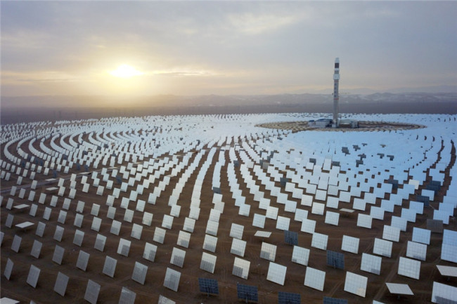 China's first solar-thermal power plant connects to national