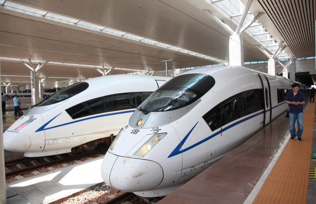 China's high-speed trains. [File Photo: IC]