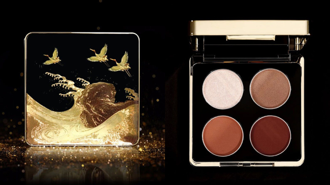"""Photo shows the eye shadow palette released by the Palace Museum, December 11, 2018, just one day ahead of China's """"Double Twelve"""" online shopping promotion. The new collection includes lipsticks, eye shadows, blush and highlights based on historic Chinese themes. [Photo: The Palace Museum Taobao]"""