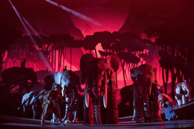 Stage play The Last Warrior Elephant[courtesy [Courtesy of Shanghai Puppet Theatre]
