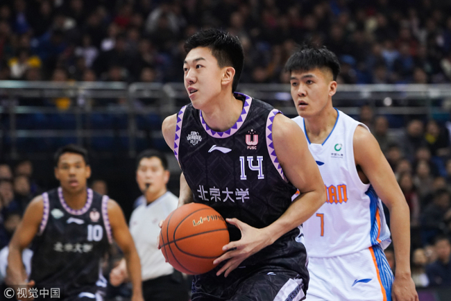 The 2018-2019 season CBA All-Star Rookie Challenge is held in Qingdao, Shandong province, on Saturday, January 12, 2019. [Photo: VCG]