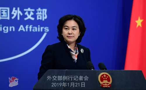 Foreign Ministry Spokesperson Hua Chunying [Photo: fmprc.gov.cn]