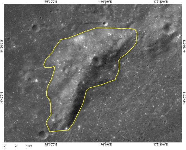 Image shows Mons Tai, which is 46 kilometers to the northwest of the Chang'e-4 landing site. [Photo: China Plus]