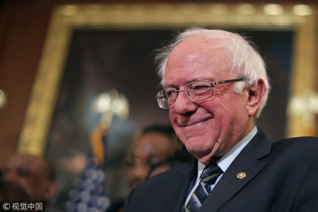 U.S. Senator Bernie Sanders [File Photo: VCG]