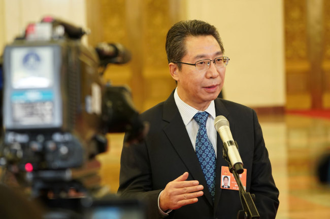 Shen Changyu, the head of the State Intellectual Property Office. [Photo: China Plus]