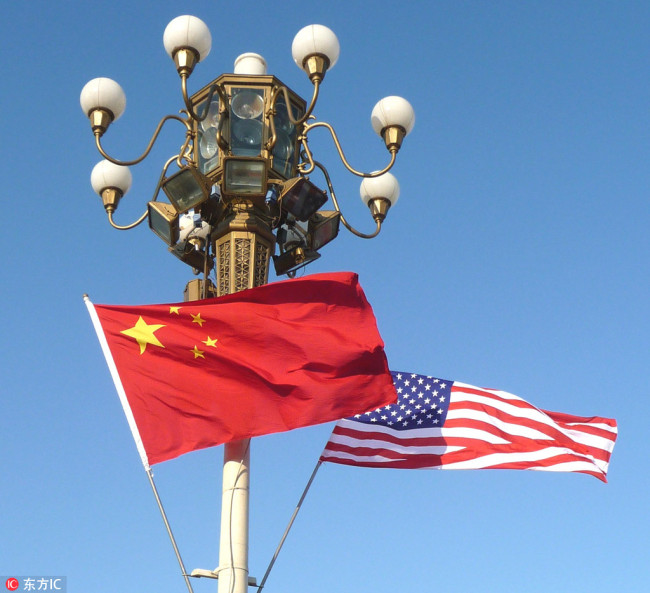National flags of China and the U.S. [File photo: IC]