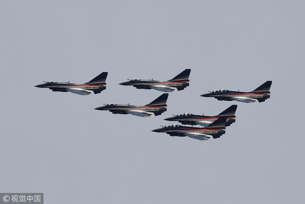 Chinese J-10 fighter jets rehearse for Pakistan Day - China Plus