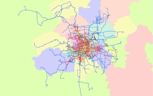 Bus routes chart in Beijing [Photo: courtesy of the Beijing Public Transport Corporation]