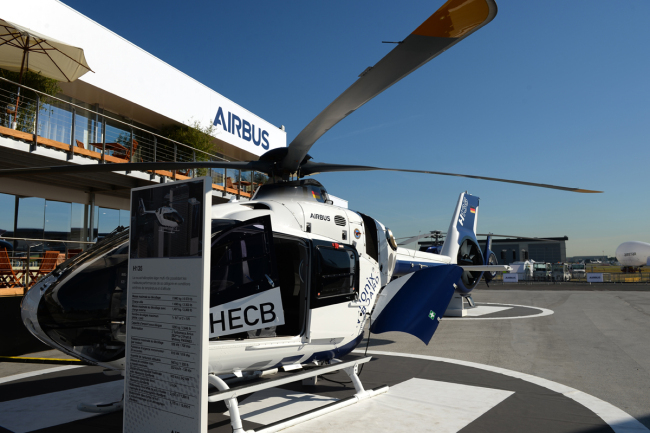 A helicopter Airbus H135.[File Photo: AFP/ERIC PIERMONT]