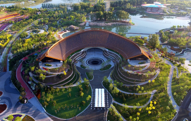 The China Pavilion at the Beijing Horticultural Expo. [Photo: Beijing Expo]