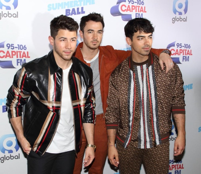 The Jonas Brothers are seen during the Capital FM Summertime Ball at Wembley Stadium in London on June 09, 2019. [Photo: IC]
