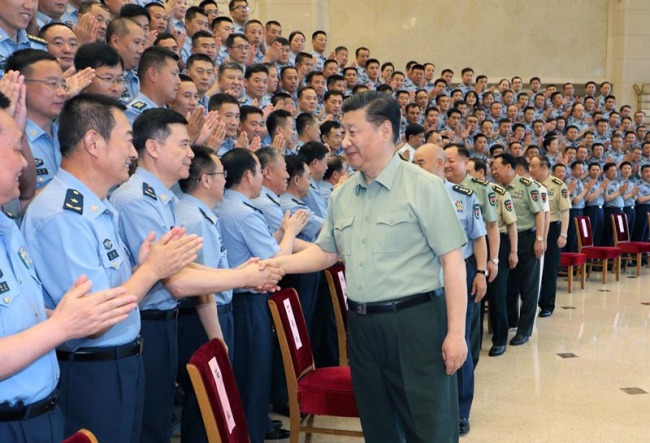 Xi meets with PLA Air Force Party Congress delegates - China