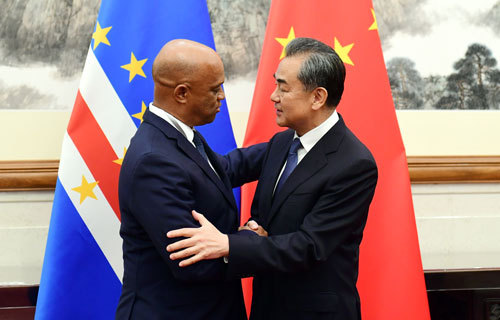 Chinese State Councilor and Foreign Minister Wang Yi meets with the Foreign Minister of the Republic of Cape Verde Luis Tavares in Beijing, June 24, 2019. [Photo: fmprc.gov.cn]