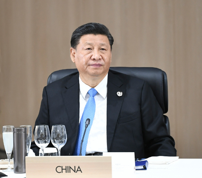 Chinese President Xi Jinping attends the 14th G20 summit, in Osaka, Japan, on June 28, 2019. [Photo: Xinhua]