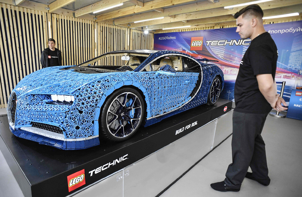 Drive-able, full-size Lego car on display in Russia - China Plus