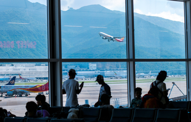 A view of the Hong Kong International Airport. [File Photo: VCG]