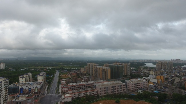 Aerial view of Qionghai City in Hainan province before Typhoon Podul land on the coast of Hainan, August 29, 2019. [Photo: IC]