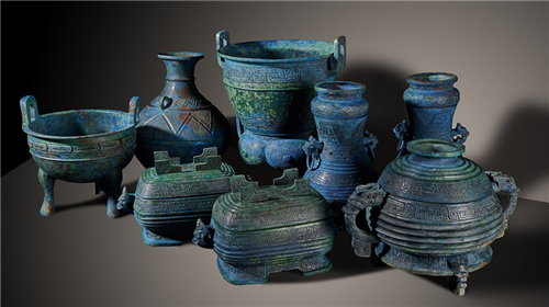 The bronzeware were identified by researchers to be stolen items from ancient tombs dating back to the Spring and Autumn Period (770 B.C.-476 B.C.) located in Suizhou, central China's Hubei Province.[Photo: Courtesy of China's National Cultural Heritage Administration]