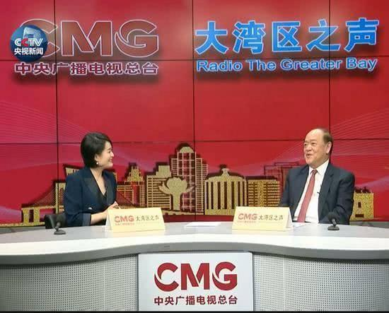 Ho Iat Seng (R), the Chief executive of Macao Special Administrative Region, speaks during an exclusive interview with China Media Group (CMG). [Photo: CCTV]