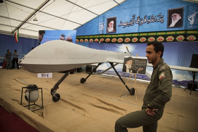 A view of an exhibition of what Iran says are the US and other drones captured in its territory, at Tehran's Islamic Revolution and Holy Defence museum, in the capital Tehran, September 21, 2019. [File Photo: IC]