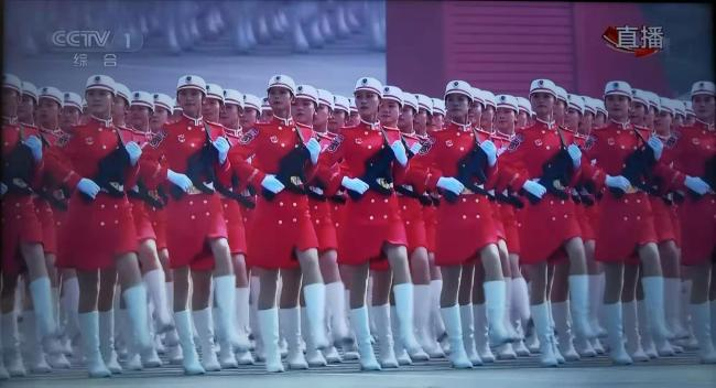 A militia formation takes part in a military parade during the celebrations marking the 70th anniversary of the founding of the People's Republic of China (PRC) at the Tian'anmen Square in Beijing, capital of China, Oct. 1, 2019. [Photo: China Plus]
