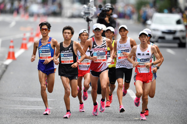 Runners compete in the Marathon Grand Championship, Sunday Sept. 15 2019, in Tokyo. [Photo: IC]