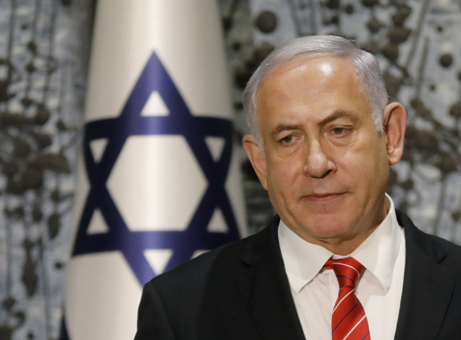In this photo taken on September 25, 2019, Israeli Prime Minister Benjamin Netanyahu speaks after being tasked by President Reuven Rivlin (not in frame) with forming a new government, during a press conference in Jerusalem. [Photo: AFP/Menahem Kahana]