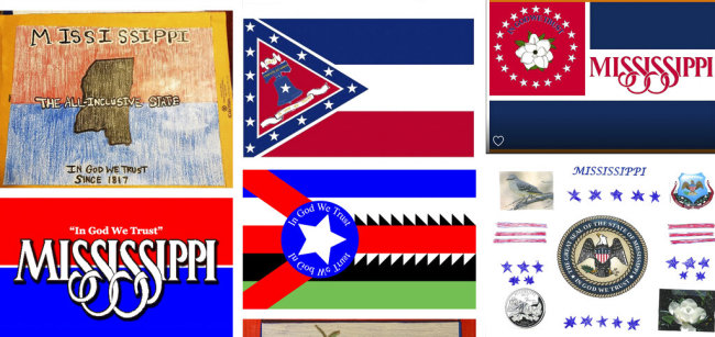 Magnolias, stars, a Gulf Coast lighthouse, a teddy bear, and even Kermit the Frog appear on some of the over 1,800 proposals submitted by the general public for a new Mississippi flag and posted Monday, Aug. 3, 2020, on the Mississippi Department of Archives and History web site. [Photo: AP]