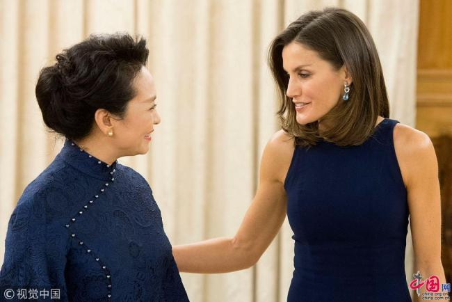 First Chinese Lady Peng Liyuan Queen of Spain with Letizia Letizia Ortiz